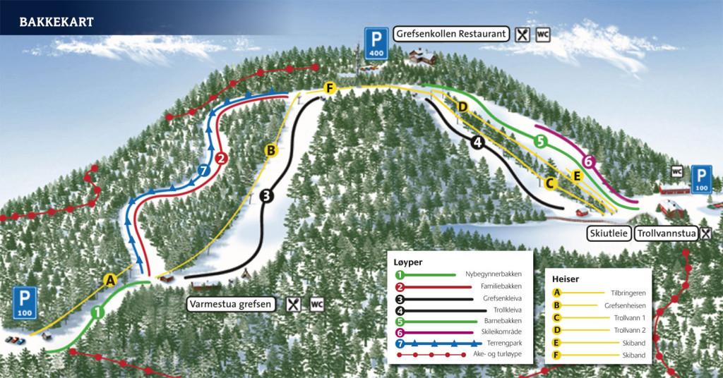 Oslo-skisenter-bakkekart-2013-2014